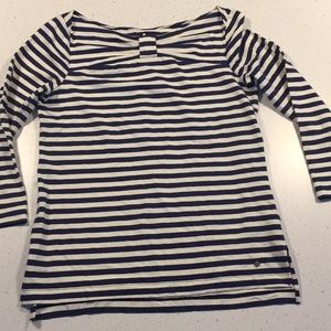 Kate Spade New York nautical stripe tee navy M